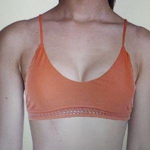 Raisins Tangerine Bikini Top New Maui Bra tie